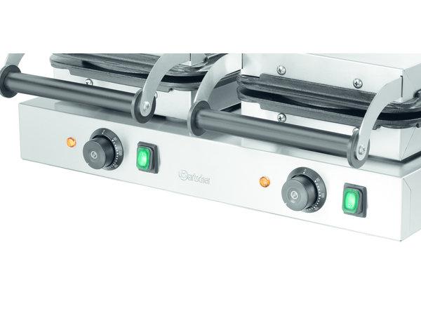 Bartscher Dubbele Wafelijzer   Hartvormige Wafel   4,4 kW   600x470x(H)250mm