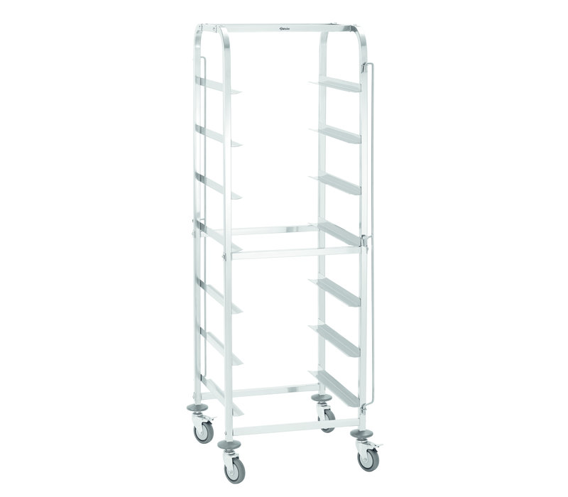 Bartscher Rinse basket trolley Suitable for 7x 500x500mm Baskets | 565x555x (H) 1750mm