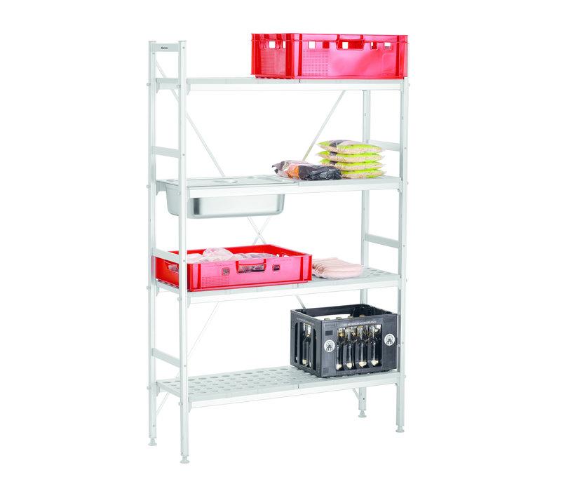 Bartscher Shelving System Kit | 4 Shelves | Dismountable | 1140x355x (H) 1790mm