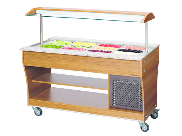 Bartscher Buffet trolley Refrigerated | 4 Wheels | Available in 3/4 / 6x 1/1 GN