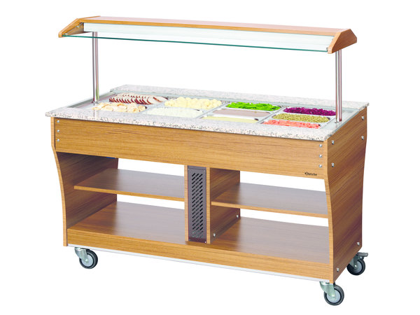 Bartscher Buffet trolley Heated | 4 Wheels | Available in 3/4 / 6x 1/1 GN