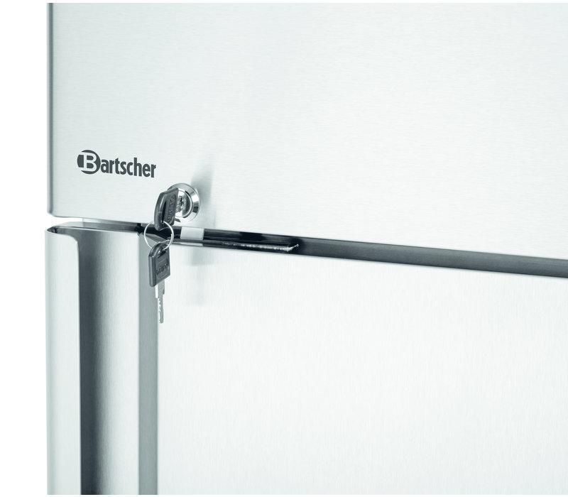 Bartscher RVS Horeca Koelkast Op Wielen | 670 Liter | 4 Verstelbare Roosters | 845x730x(H)2130mm