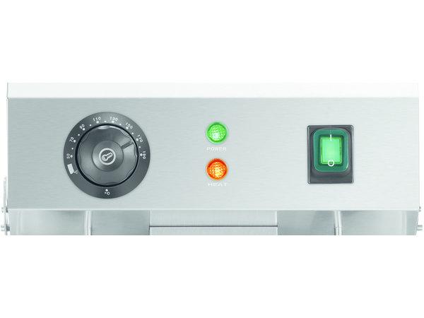 Bartscher Dubbele Elektrische Friteuse | 2x 9 Liter | Tapkraan | 575x530x(H)385mm