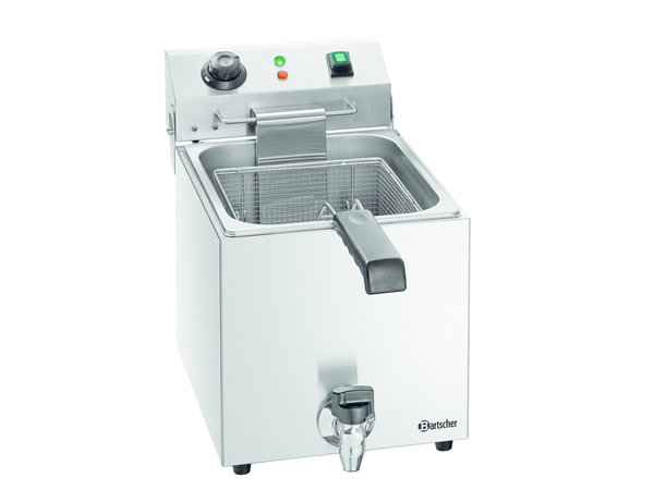 Bartscher Electric Deep Fryer | 9 Liter | Faucet | 300x530x (H) 385mm
