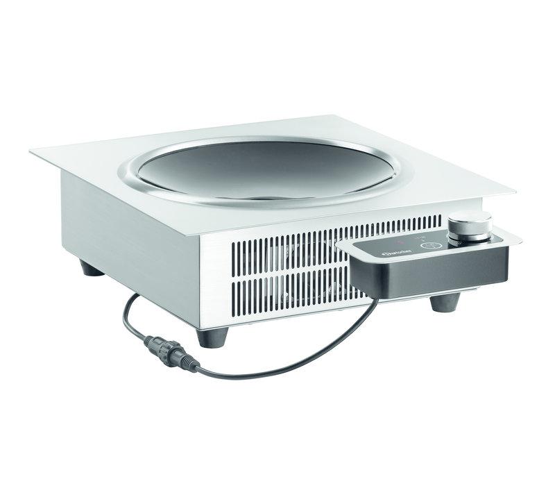 Bartscher Inbouw Inductiewok | 10 Vermogen Niveaus  | 3,5 kW | 370x390x(H)135mm