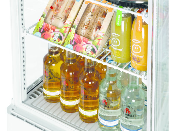 Bartscher Mini Refrigerated Showcase White | 78 Liter | 3 Adjustable Grilles | 450x405x (H) 1030mm