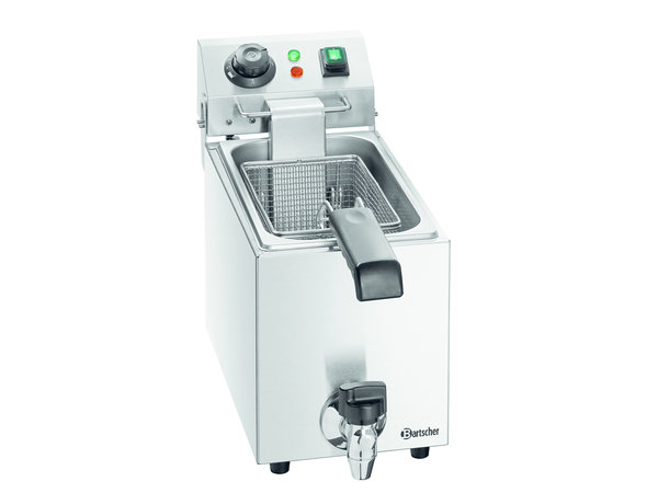 Bartscher Electric Deep Fryer | 4 Liter | Faucet | 200x530x (H) 340mm