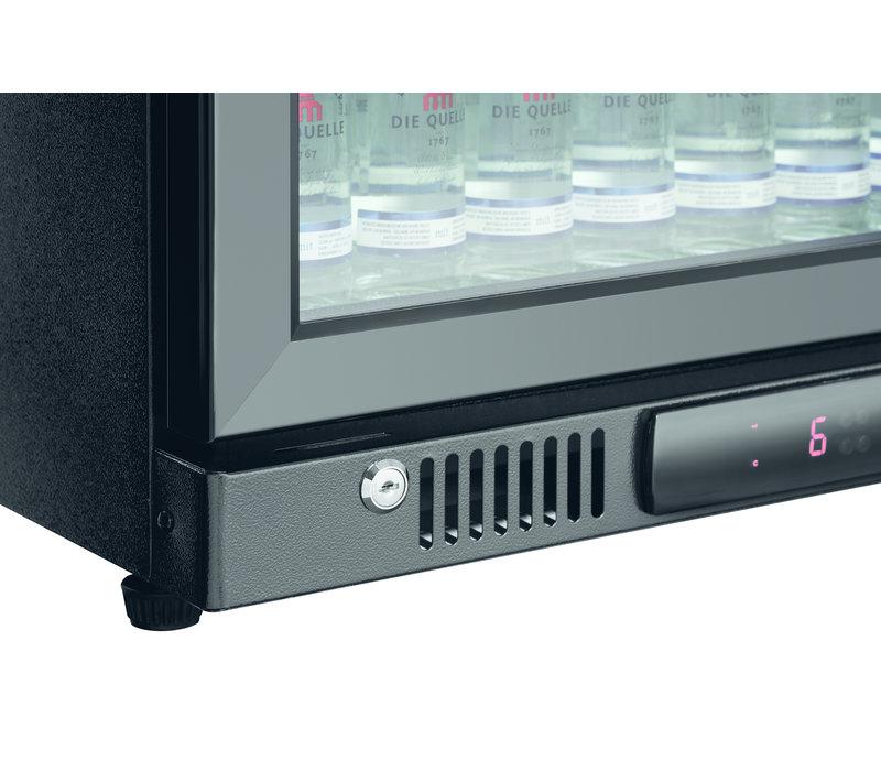 Bartscher Bar fridge   124 Liter   Glass Door   600x500x (H) 850mm