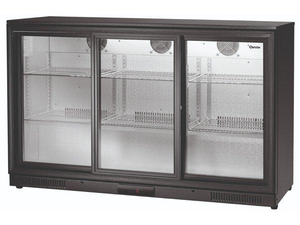 Bartscher Bar fridge | 270 Liter | 3 Glass Doors | 1350x530x (H) 850mm