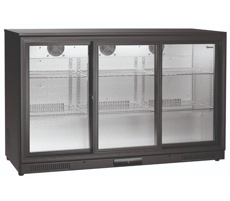 Bartscher Barkoelkast | 270 Liter | 3 Glazen Deuren | 1350x530x(H)850mm