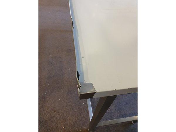 XXLselect Stainless Steel Work Table + Splash Edge | Without Shelf | HEAVY DUTY | 1700x600x (H) 885mm