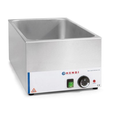 Hendi Bain-Marie GN | 150mm deep | Kitchen Line HENDI | 1200W | 340x540x (H) 250mm