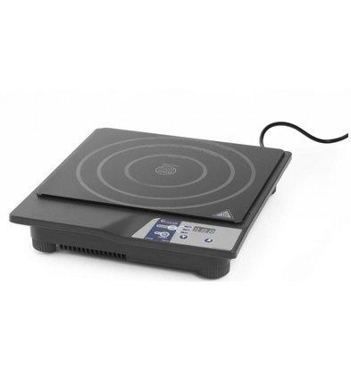 Hendi Inductiekookplaat digitaal - 230V/50Hz - 1800W - 315x345x(h)70