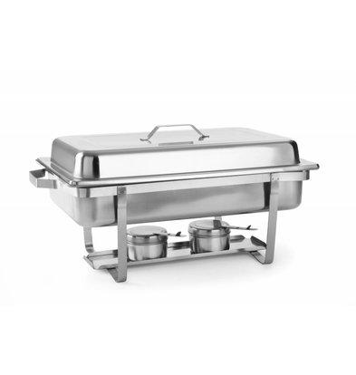 Hendi Chafing Dish | 1/1 GN | 9 Liter | 620x350x(H)310mm | XXL AANBIEDING!