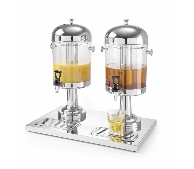 Hendi OUTLET Dubbele Sapdispenser | 2x 8 Liter | Non-Drip Tapkraan | 580x350x(H)560mm