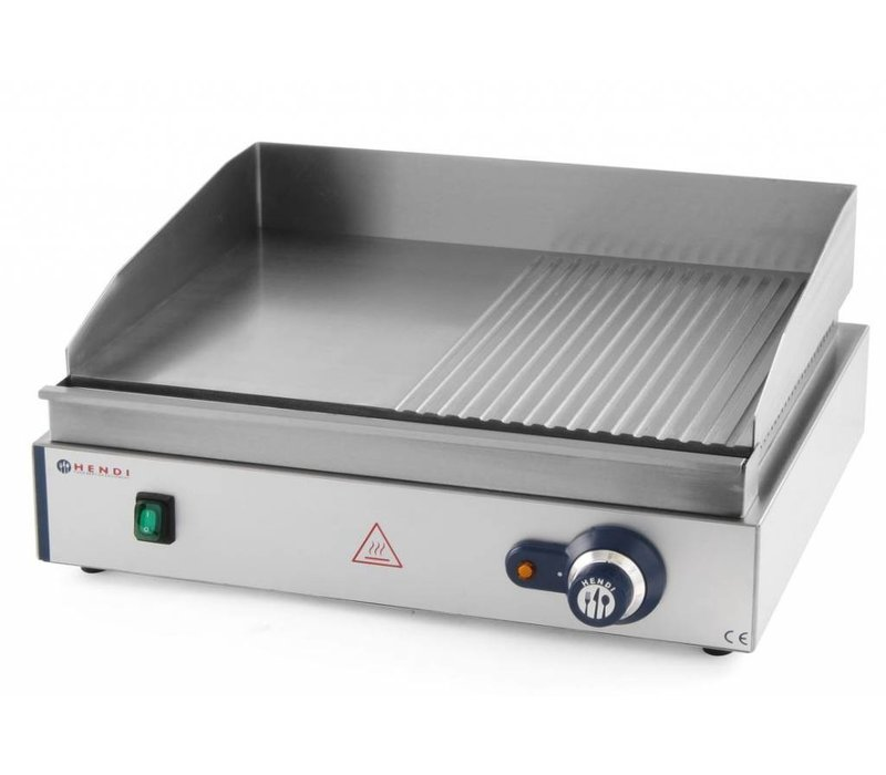 Hendi OUTLET Baking tray - Smooth / Ribbed Blue Line Hendi 203156 - 55x38x (h) 24cm - 2.4kW