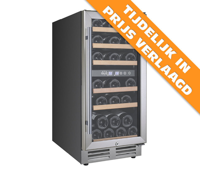 XXLselect Wine Climate Cabinet Dual Zone | Suitable for 30 bottles 380x585x (H) 860mm