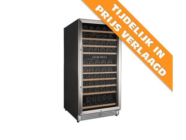 XXLselect Wijnklimaatkast Dual Zone   Geschikt voor 110 Flessen   598x690x(H)1200mm