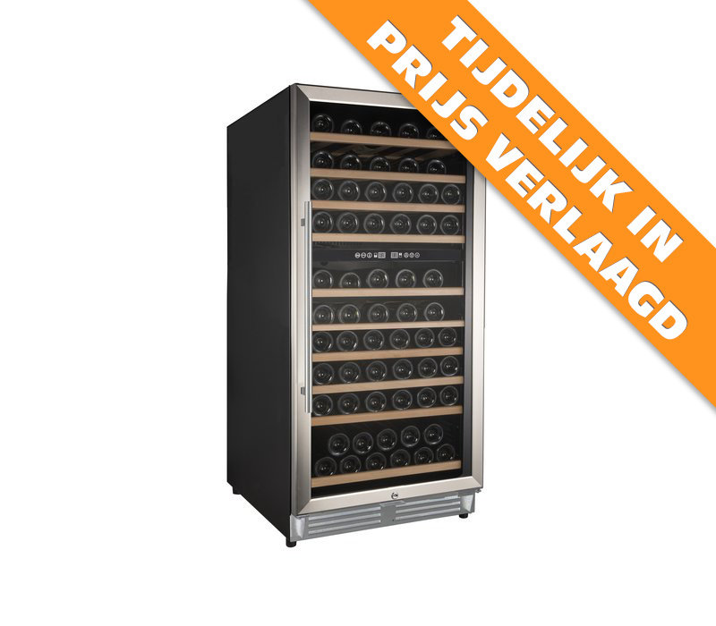 XXLselect Wine Climate Cabinet Dual Zone | Suitable for 110 bottles 598x690x (H) 1200mm