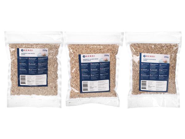 Hendi Aromatische houtsnippers | 250 Gram | Beschikbaar in 10 Smaken