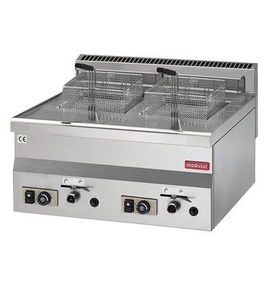 Modular Fryer 600 Modular | Gas | 2x8 Liter | 13.6 kW Propane | 600x600x (H) 280mm