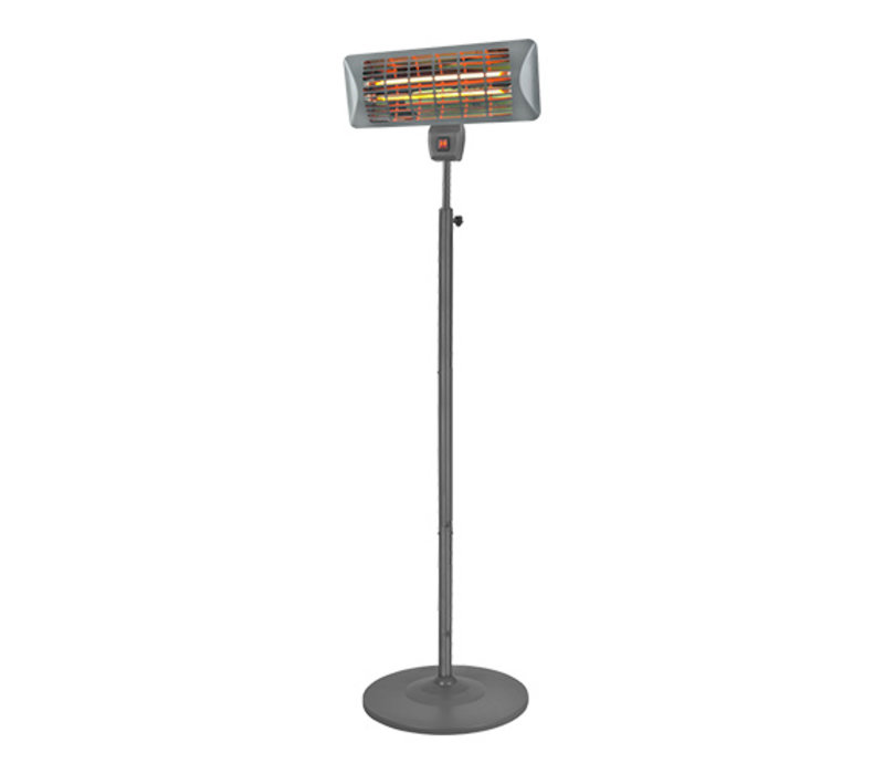 Emga Terrasverwarmer Met Standaard | Quartz Lamp | 1000/2000W
