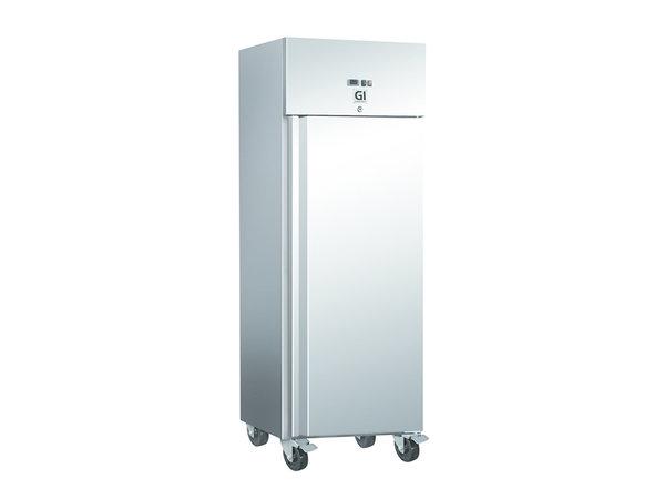 XXLselect Stainless Steel Horeca Freezer 600 Liter | Forced Chilled | On Wheels | 680x800x (H) 2010mm