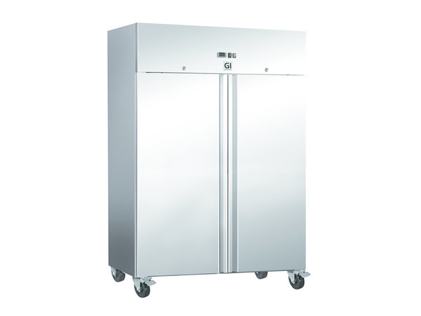 XXLselect Stainless Steel Horeca Freezer 1200 Liter | Forced Chilled | On Wheels | 1340x800x (H) 2010mm