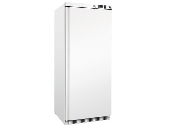 XXLselect Wit Stalen Horeca Koeling 600 Liter   Statisch Gekoeld Met Ventilator   775x735x(H)1870mm