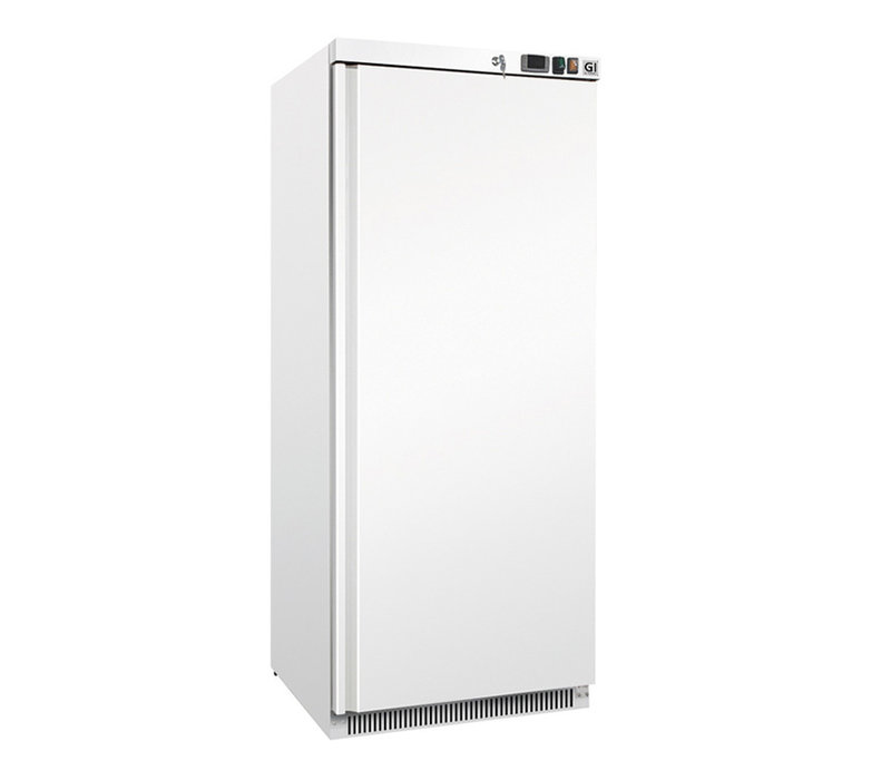 XXLselect White Steel Horeca Freezer 600 Liter | Static Cooled With Fan | 775x735x (H) 1870mm