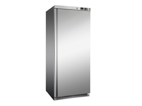 XXLselect Stainless Steel Horeca Freezer 600 Liter | Static Cooled With Fan | 775x735x (H) 1870mm