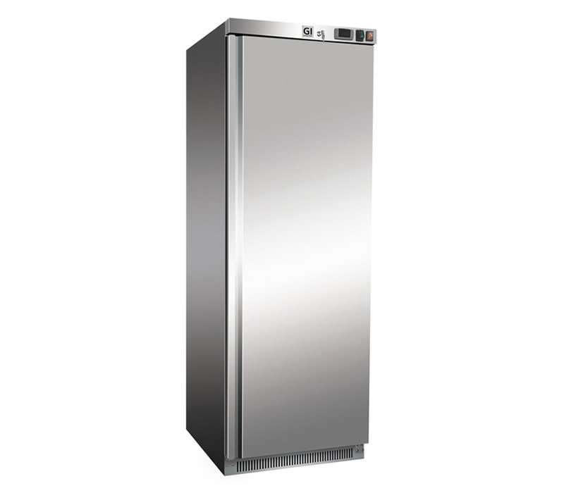XXLselect Stainless Steel Horeca Freezer 400 Liter | Static Cooled With Fan | 600x615x (H) 1870mm