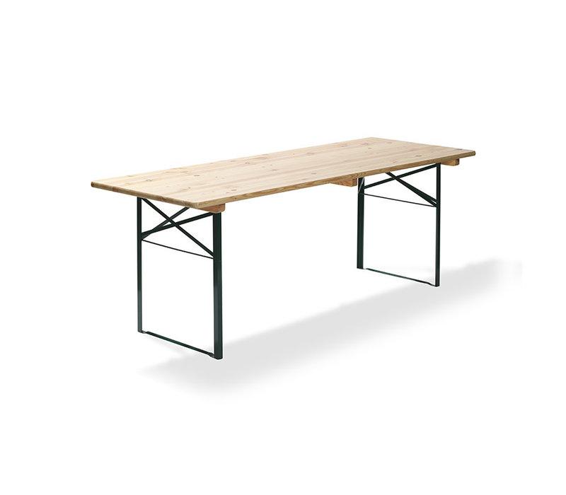 XXLselect Opklapbare Biertafel | Groen Onderstel | 2200x500x(H)780mm