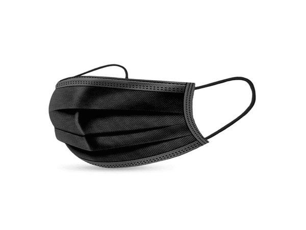 XXLselect 50 Black Disposable Face Masks | Not Medical - Copy