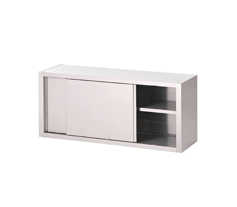 XXLselect Stainless Steel Wall Cabinet With Sliding Doors | 400 (d) x660 (h) mm | Available in 20 Widths