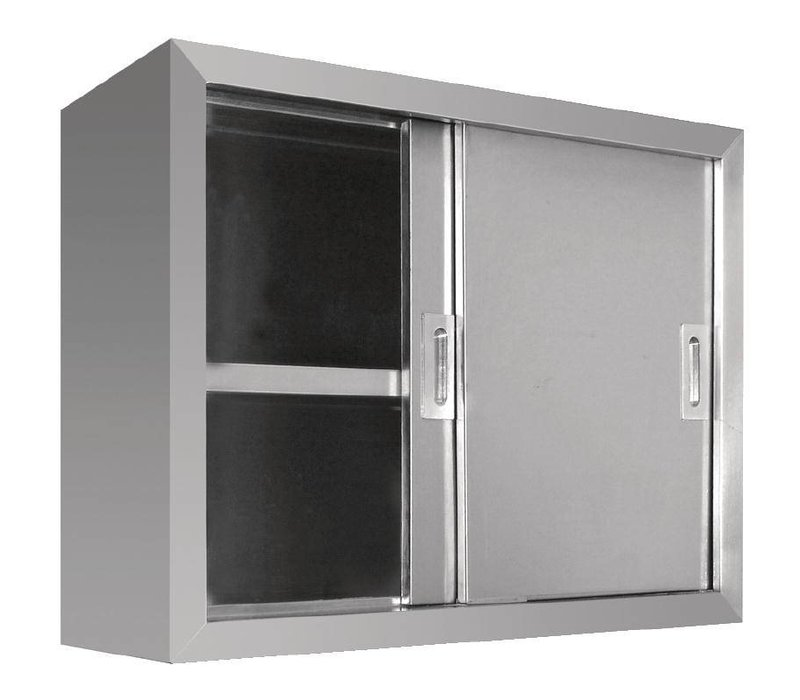Vogue Wardrobe Stainless Steel - with two sliding doors | 900 (B) | 300 (D) | 600 (H) mm