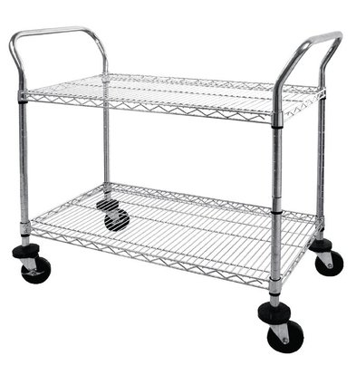 Vogue Trolley Chromed steel rods - two bars - 910x460x (h) 960mm