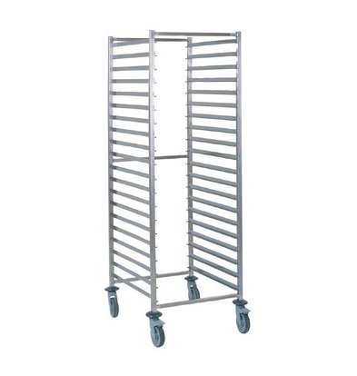 Tournus Regaalwagen stainless steel 20 x 2 / 1GN - Heavy Duty - Welded
