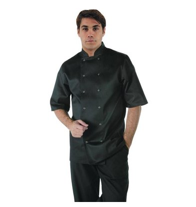 Whites Chefs Clothing Whites Vegas Chefs Tube - Short Sleeves - Available in 6 sizes - Unisex - Black
