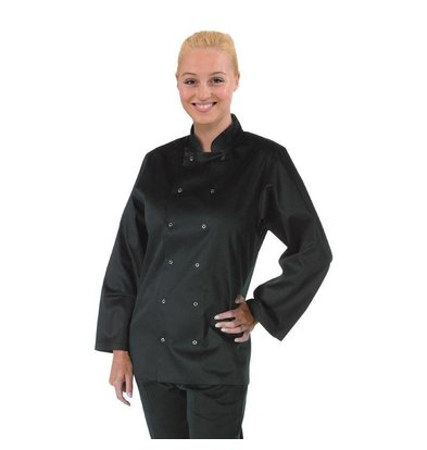 Whites Chefs Clothing Whites Vegas Chefs Tube - Long Sleeves - Available in 6 sizes - Black