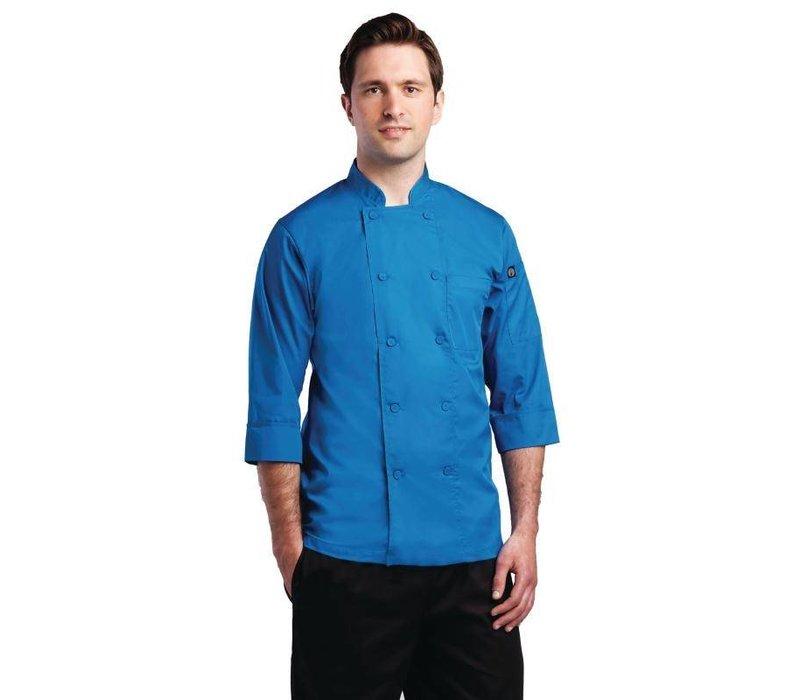 Chef Works Chef Works lite Koksbuis - 3/4 Mouw - Beschikbaar in 6 maten - Unisex - Blauw