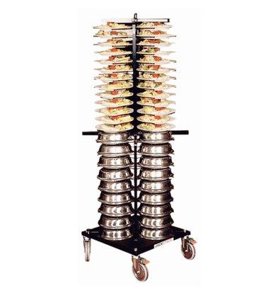 Jackstack Bordenrek Jackstack Verrijdbaart 88 borden - 60x60x179(h)cm