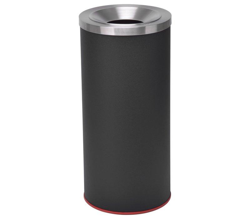 Combisteel Afvalbak Zwart Gepoedercoat | Ø360x(H)760mm