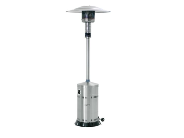 Bartscher Gas patio heater made of stainless steel For Propane gas 13.5kW | Height 2200 mm | on wheels
