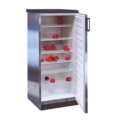 XXLselect Stainless steel refrigerator - 6 adjustable grids - 270 Liter - 60x62 (h) 145cm
