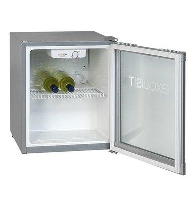 Exquisit Glass Door Refrigerator - 50 Liter - 47x44x (h) 50cm