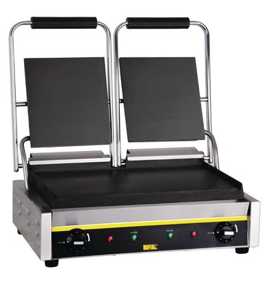 Buffalo Contactgrill Double Budget - Smooth - 54x39x (h) 21cm - 2900W