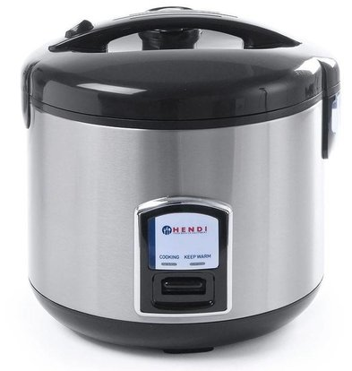 Hendi Complete Stainless Steel Rice Cooker Steam function + + measuring cup + rice spoon + Steam Cart | 4-10 Persons 1.8 liters