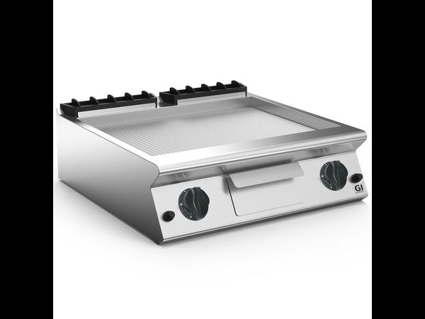 XXLselect 700 HP Gasbakplaat Geribbelde RVS Plaat | 14 kW | 800x730x(H)250m