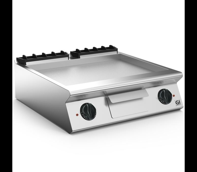 XXLselect 700 HP Elektrische Bakplaat Gladde Geslepen Stalen Plaat | 10,8 kW | 800x730x(H)250mm